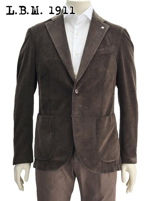 L.B.M.1911 ジャケット コーデュロイ ブラウン