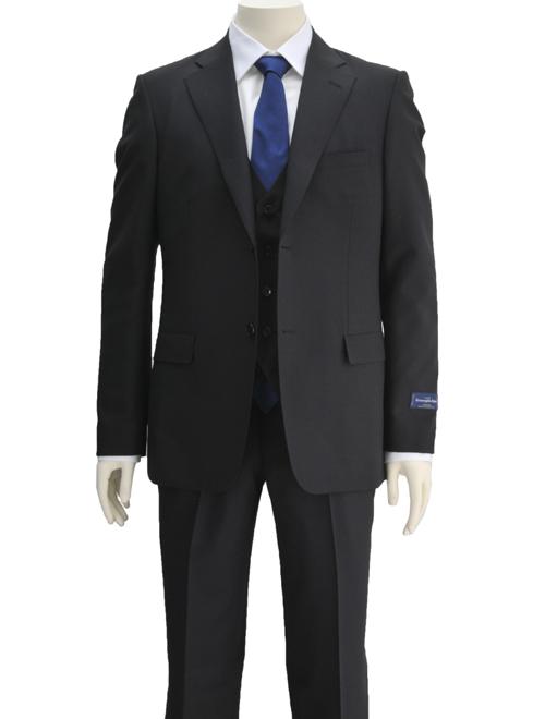 ゼニア スーツ ブラック スリーピース