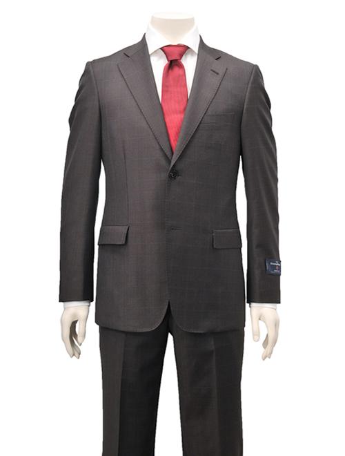 エルメネジルド・ゼニア ゼニア スーツ ブラウン
