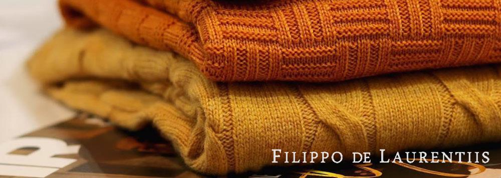 """FILIPPO DE LAURENTIIS フィリッポ・デ・ローレンティスはアドリア海に面したイタリア中部の街 Pescara""""ペスカーラ""""で2012年に生まれたニット専業ブランド。"""