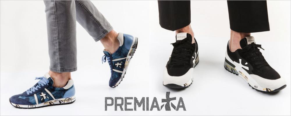 プレミアータ  PREMIATA は1885年にイタリアモンテグラナーロに創業した、老舗シューズブランド。   100年以上にわたる歴史をもち、 ヴィンテージスニーカーとしての加工を施し 現代のテイストをミックスしたラグジュアリースニーカーブランドです。