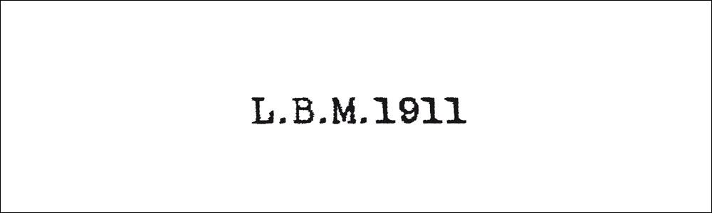 L.B.M.1911 エルビーエム1911