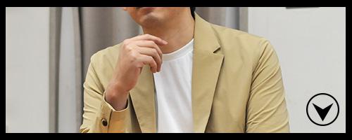 ジャケット×Tシャツでもエレガントに!コットンジャケットはカジュアル感も完璧!
