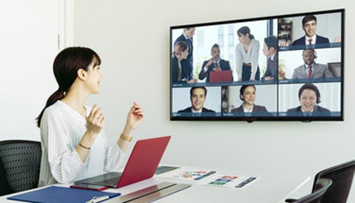 これまでよく見かけた光景 テレビ会議 web会議