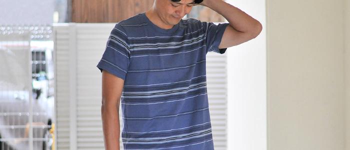 Seagreen シーグリーン スラブコットン ボーダーTシャツ