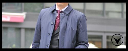 1. 会社に出勤する方は スーツ&ジレスタイル
