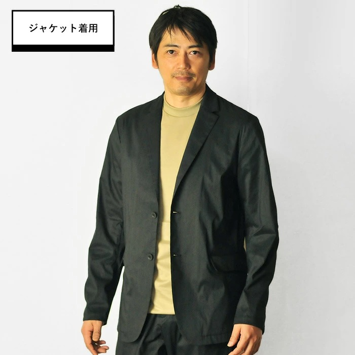ジャケットありの方が印象アップ