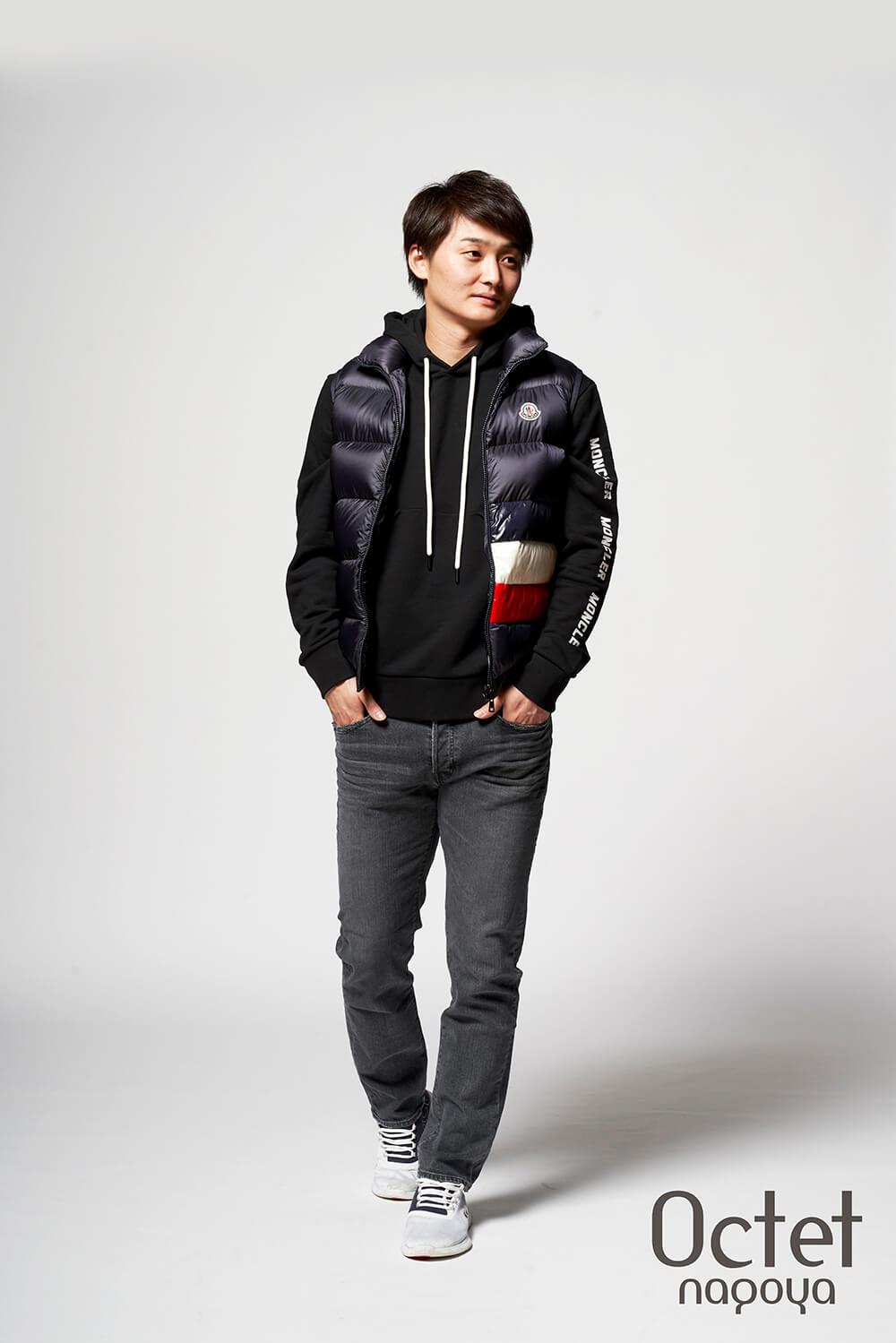 名古屋ダイヤモンドドルフィンズ 笹山 貴哉 選手のファッションコーディネート。