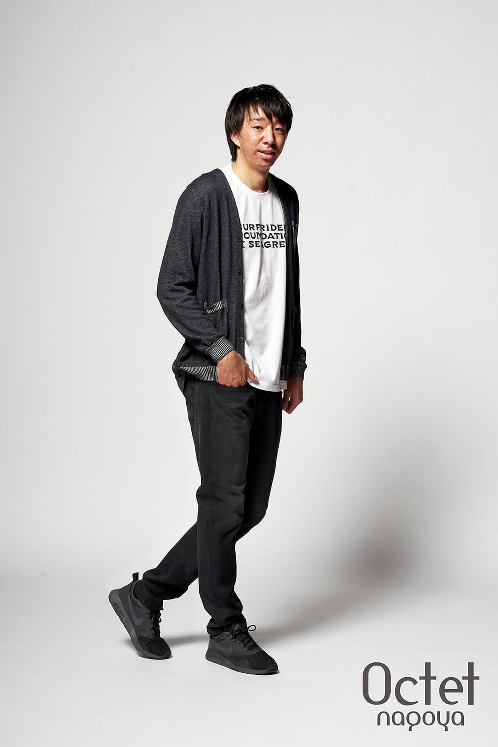 名古屋ダイヤモンドドルフィンズ 木下 誠 選手のファッションコーディネート。
